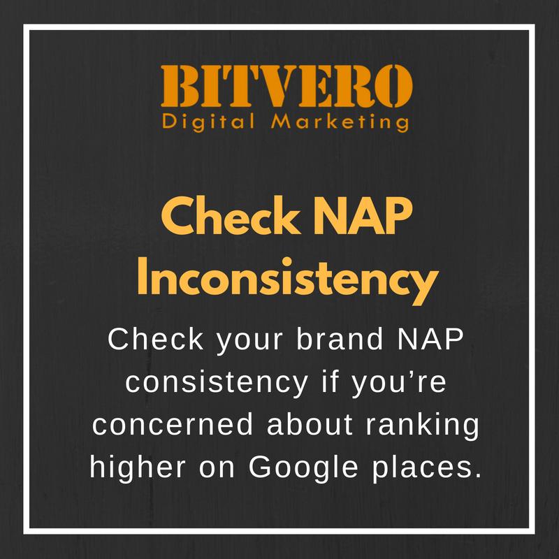 Check NAP Inconsistency